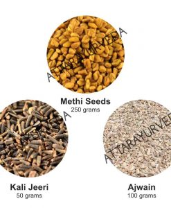 Methi, Ajwain, Kali Jeeri Combo Pack (400 grams)