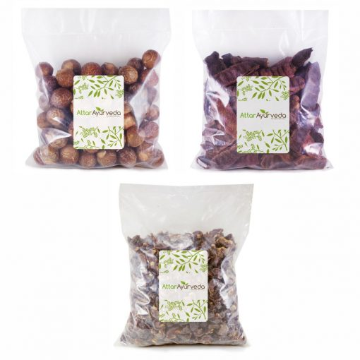 Reetha, Amla, Shikakai Combo Pack (300 Grams) Attar AYurveda