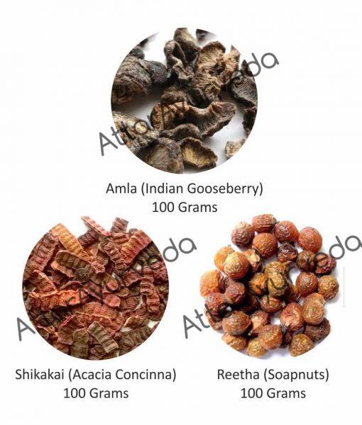 Reetha, Amla, Shikakai Combo Pack (300 Grams)