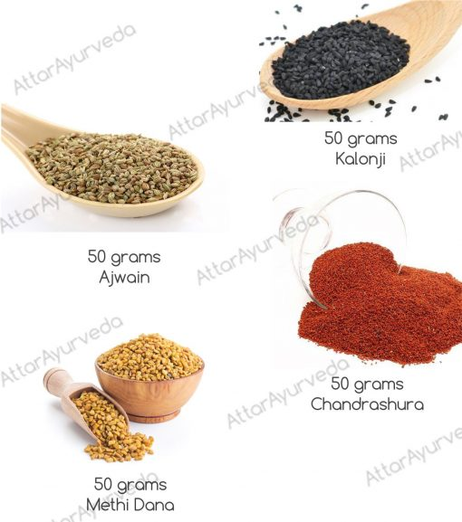 Methi Dana, Chandrashoor, Kalonji, Ajwain Combo Pack - Chaturbeeja Mixture
