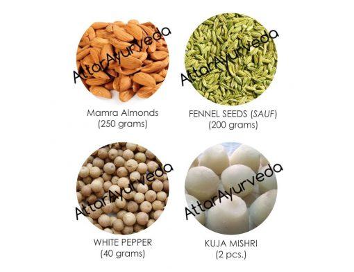 Kuja Mishri, Almonds, Fennel Seeds, White Pepper Combo Pack