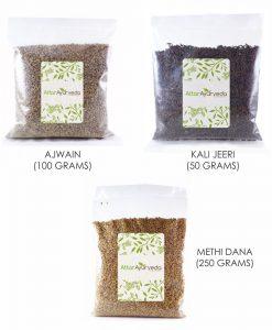 Methi, Ajwain, Kali Jeeri Combo Pack (400 grams) (Attar Ayurveda)