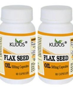 Kudos Ayurveda Flax Seed Oil Capsules, 60 capsules (Pack of 2)