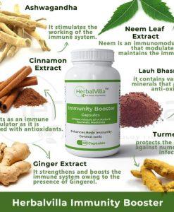 Herbalvilla Immunity Booster Capsules - 60 capsules